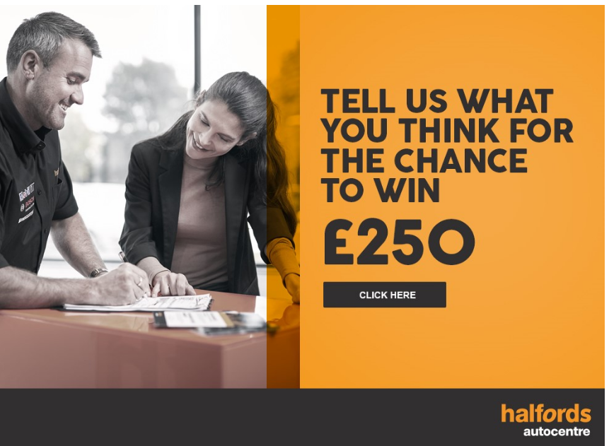 Tell Halfords Autocentre Guest Experience Survey