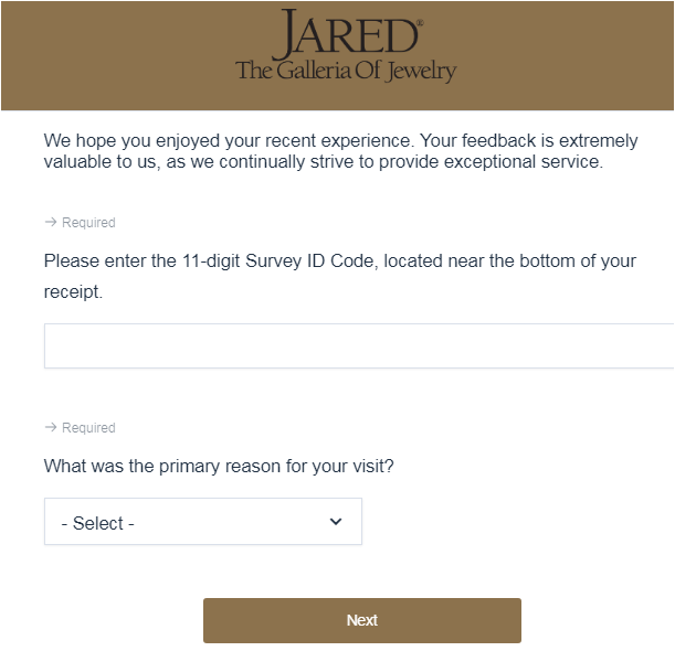 Jared Jewelry Guest Satisfaction Survey