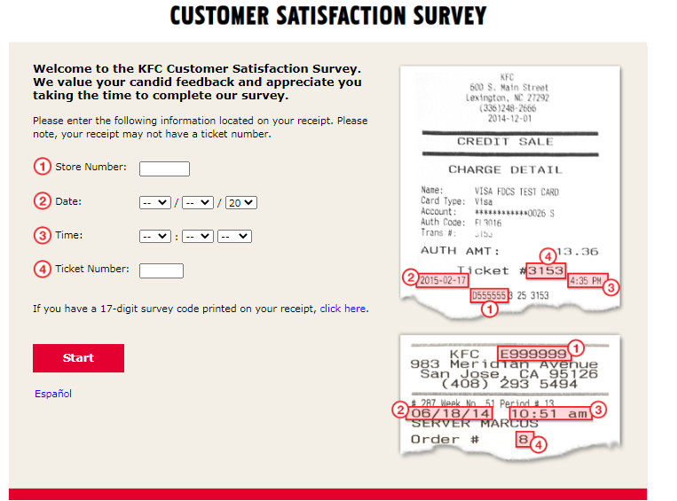 KFC Guest Experience Survey For USA